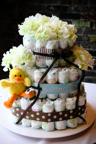 baby shower cakes for girls. The fabulous diaper cake the