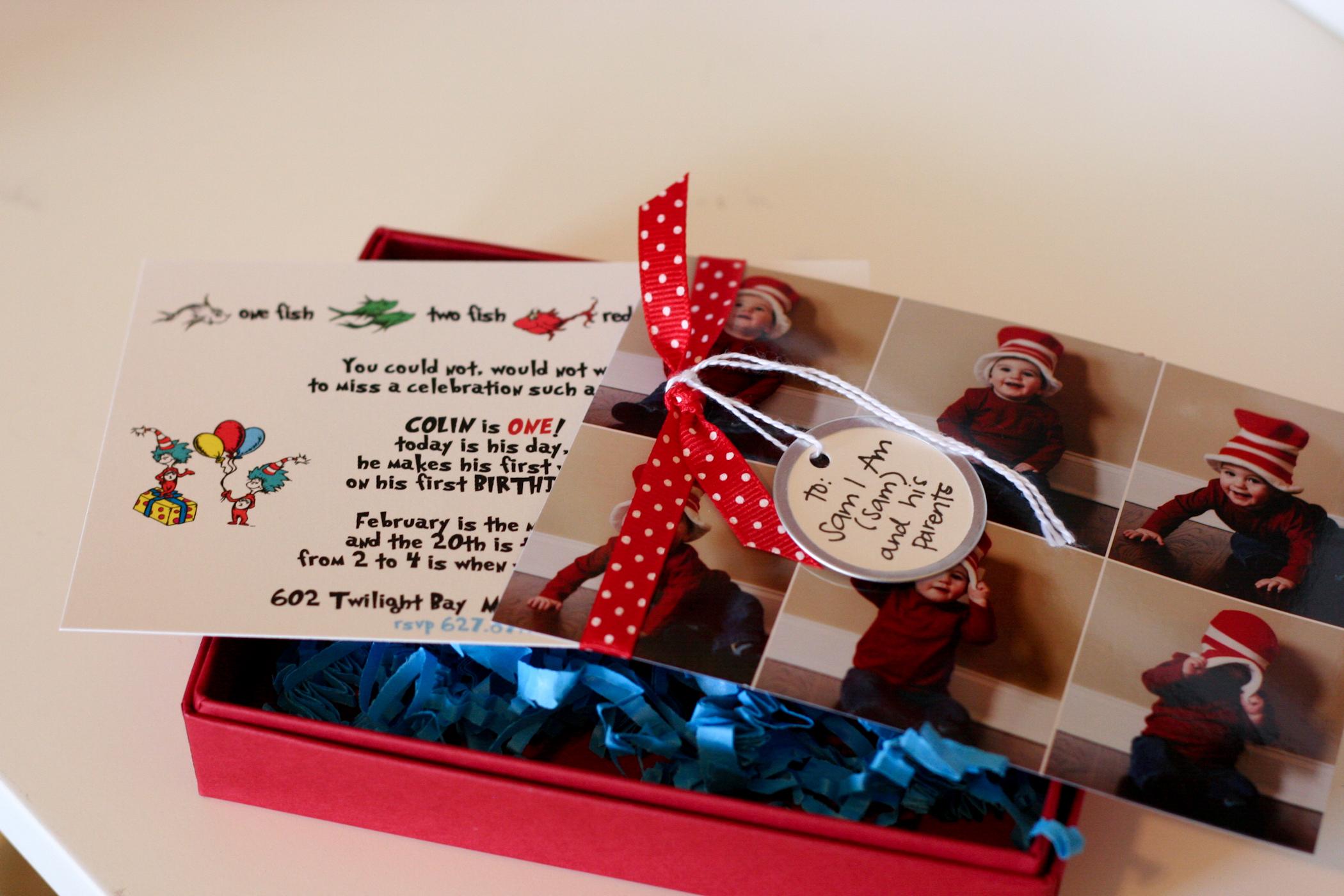 Dr. Seuss First Birthday Invitation - Nashville Wedding Invitations ...